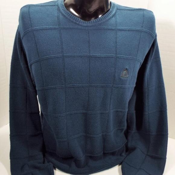 IZOD Navy Crew Neck Pullover Knit Sweater